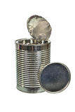 Silver can isolated on a white background Stock Photo