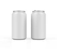 Silver Can Isolated. On white background. 3D render Royalty Free Stock Images