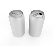 Silver Can Isolated. On white background. 3D render Stock Photos