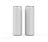 Silver Can. On white background. 3D render Royalty Free Stock Photos