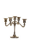 Silver candelabra antique Royalty Free Stock Image