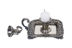 Silver candle holder Stock Image