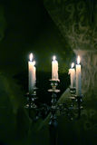 Silver candlelight Royalty Free Stock Photography