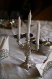 Silver candlestick Royalty Free Stock Photos