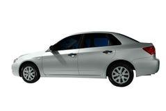 Silver car Stock Image