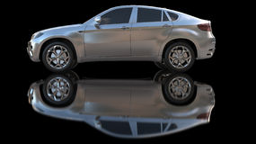 Silver car Royalty Free Stock Photography