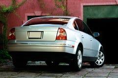 Silver car Stock Photo