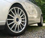 Silver car royalty free stock image