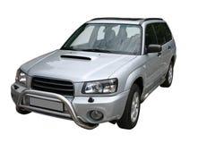 Silver car royalty free stock photo
