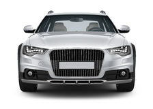Silver car - front view vector illustration