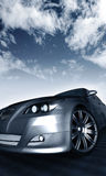 Silver car illustration Stock Image
