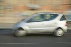 Silver car, Nice, France Stock Photos