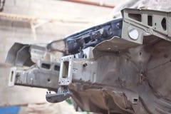 Silver car repair body kit Stock Image