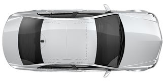 Free Silver Car - Top View Royalty Free Stock Image - 38720086