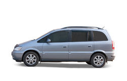 Silver car on white Stock Photography