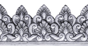 Silver carve. Royalty Free Stock Photography