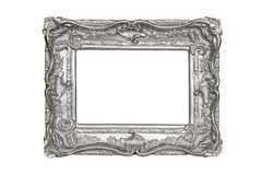 Silver carved picture frame Stock Photography