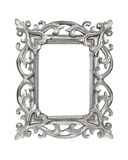 Silver carved picture frame Stock Photo