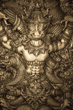 Silver carving. Thai style silver carving art on temple wall Royalty Free Stock Photography
