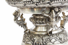 Silver carving model art in thailand Royalty Free Stock Images