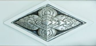 Silver carvings in Thai style Stock Photography