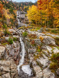 Silver Cascade in Fall Color Royalty Free Stock Images
