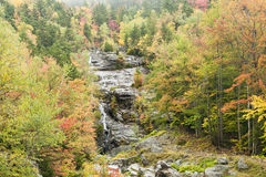 Silver Cascade waterfall wet autumn day Royalty Free Stock Image