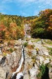 Silver Cascades, New Hampshire, USA. Silver Cascades in Crawford Notch State Park in White Mountains, New Hampshire, USA Stock Image