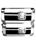 Silver case. Fancy silver case for gramophone or make-up Royalty Free Stock Photography