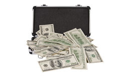 Silver Case With Dollars Stock Images