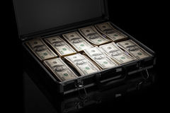 Free Silver Case With Money Stock Image - 54587841