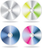 Silver CD, DVD disks set Royalty Free Stock Image