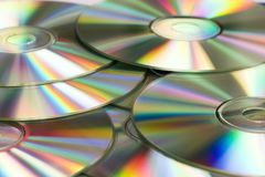 Silver cd's Stock Photos