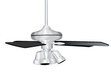 Silver Ceiling Fan illustration Royalty Free Stock Photos