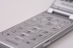 Silver Cellphone Keypad Royalty Free Stock Photography