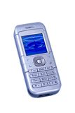 Silver cellular Royalty Free Stock Image