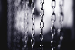 Silver chain Stock Images