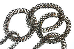 Silver Chain Royalty Free Stock Image