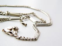 Silver chain Royalty Free Stock Photos