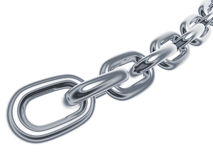 Silver chain Stock Photography