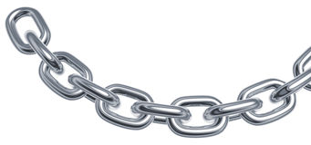 Silver chain Stock Image