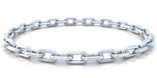 Silver chain background Stock Images