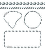 Silver Chain of Ball Links Set. Vector Stock Images