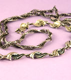 Silver chain and bangle Stock Image