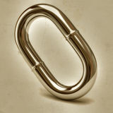 Silver chain link on old paper Royalty Free Stock Image
