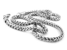 Silver Chain - Stainless Steel Royalty Free Stock Photography