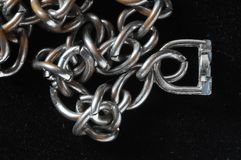 Silver Chain Texture Stock Photography