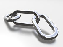Silver chain Royalty Free Stock Photography