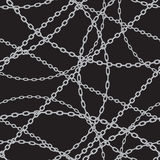 Silver chains Royalty Free Stock Images