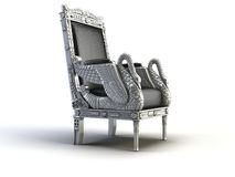 Silver chair. On the white background Stock Photo